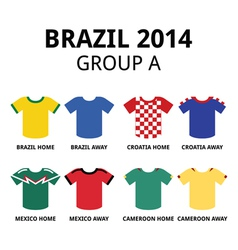 World cup brazil 2014 - group a teams jerseys vector