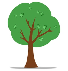 Green cartoon tree vector