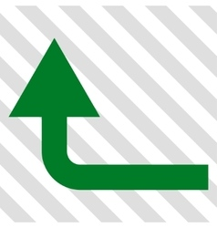 Turn forward icon vector