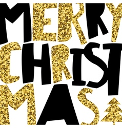 Merry Christmas Greeting Background And Christmas vector image