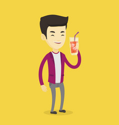 Man drinking cocktail vector