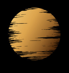 Golden moon in dark vector