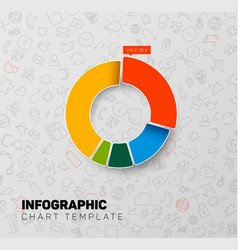 Infographic pie chart template vector