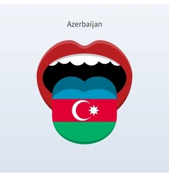 Azerbaijan language abstract human tongue vector