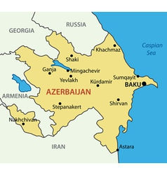 Republic of azerbaijan - map vector