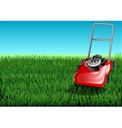 Grass and mow vector