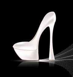 White shoe and veil vector