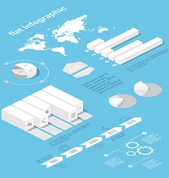 Flat 3d isometric infographic for your business vector