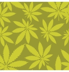 Seamless pattern - marijuana cannabis vector