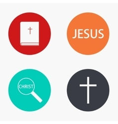 Modern religion colorful icons set vector