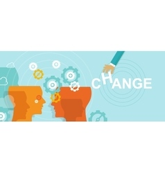 change management concept improvement direction vector image