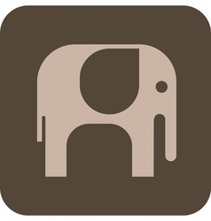 Elephant grey icon vector