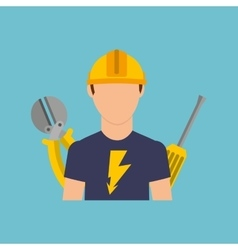Electrician isolated design vector