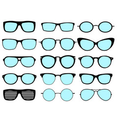 a set of glasses isolated glasses model vector image vector image