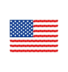 American flag of love isolated on white background vector
