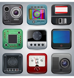 Application icons set vector image