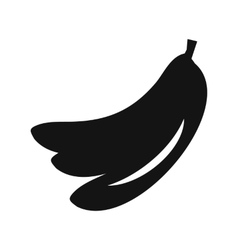 Banana simple icon vector