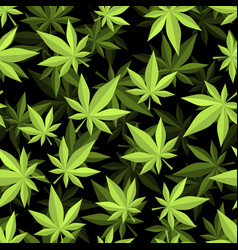 Cannabis 3d seamless pattern marijuana texture vector
