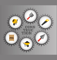 construction tools equipment inside mechanical vector image