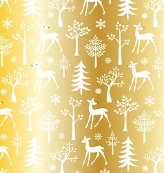 Gold christmas pattern vector