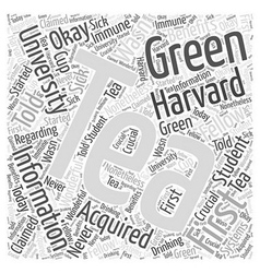 Green tea information word cloud concept vector