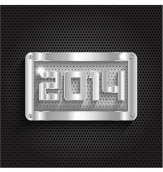 Happy new year background with a metallic design vector