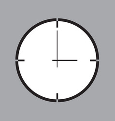 icon with clock symbol vector image