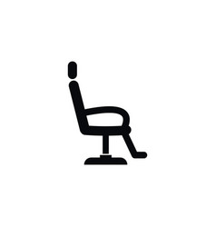 isolated interior icon chair element can vector image vector image