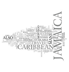 Jamaica just for the fun of it text background vector