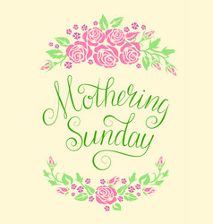 Mothering sunday card vector