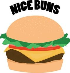 Nice buns vector