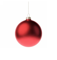 Red 3d christmas bauble vector