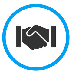 Relation handshake rounded icon vector