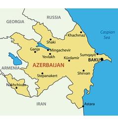 Republic of azerbaijan - map vector