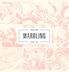 set abstract marble backgrounds ink texture vector image vector image