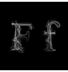 Smoke font letter f vector