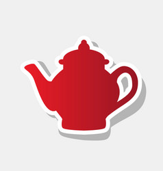 tea maker sign new year reddish icon with vector image vector image