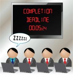 Teamwork deadline vector