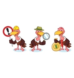 Vulture Mascot with money vector image