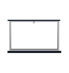 White board blank presentation equipment vector