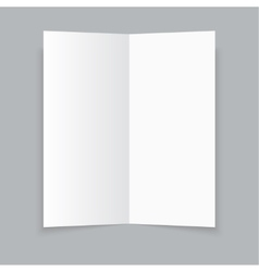 White stationery blank trifold paper brochure on vector image vector image