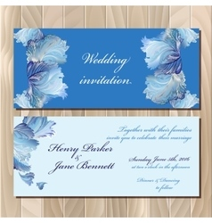 Winter frozen glass design invitation card vector image