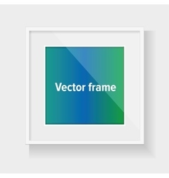 Square frame with colorful abstract vector image