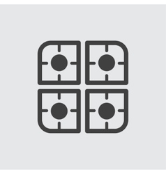 Cooker icon vector