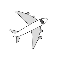 Airplane travel transport vector