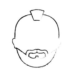 Figure criminal man face icon vector