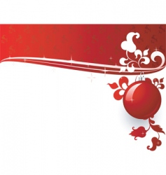 christmas header vector image