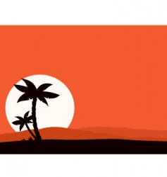 Tropical holiday background vector