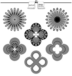 Abstract Elements For Design vector image