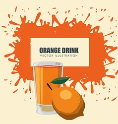Juice splash design vector